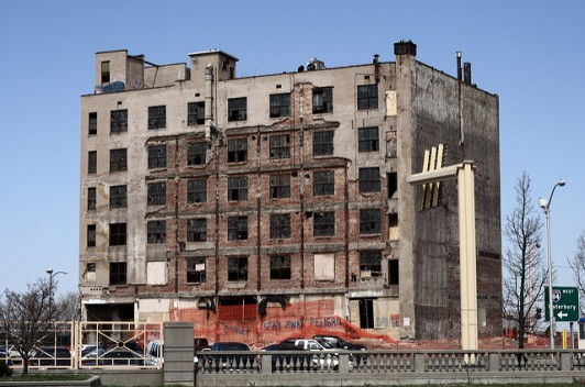 """""""Abandoned building in Hartford"""" by Sage Ross is licensed under CC BY-SA 2.0"""