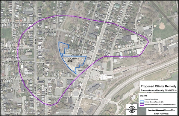 Former Geneva Foundry Site Cleanup Plan Proposed (source: NYS DEC)